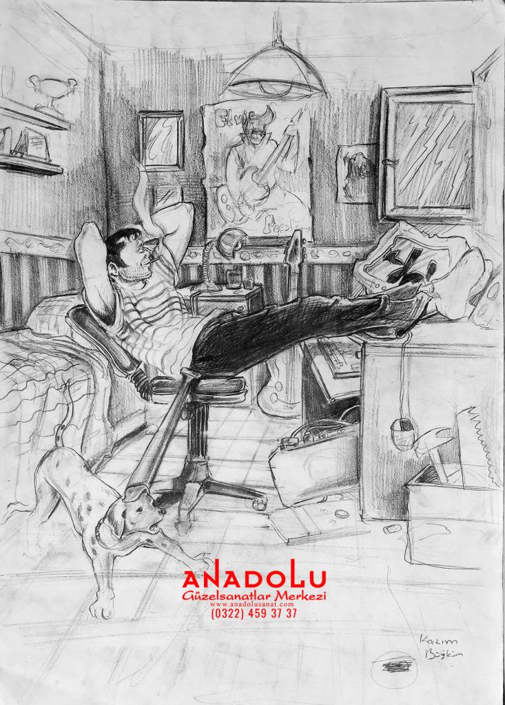 Anadolu Sanat İmgesel Çizimler Gaziantepda