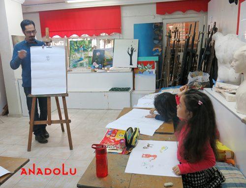 Gaziantepteki Çocuk Çizimlerinde Büyük Ressam İzleri
