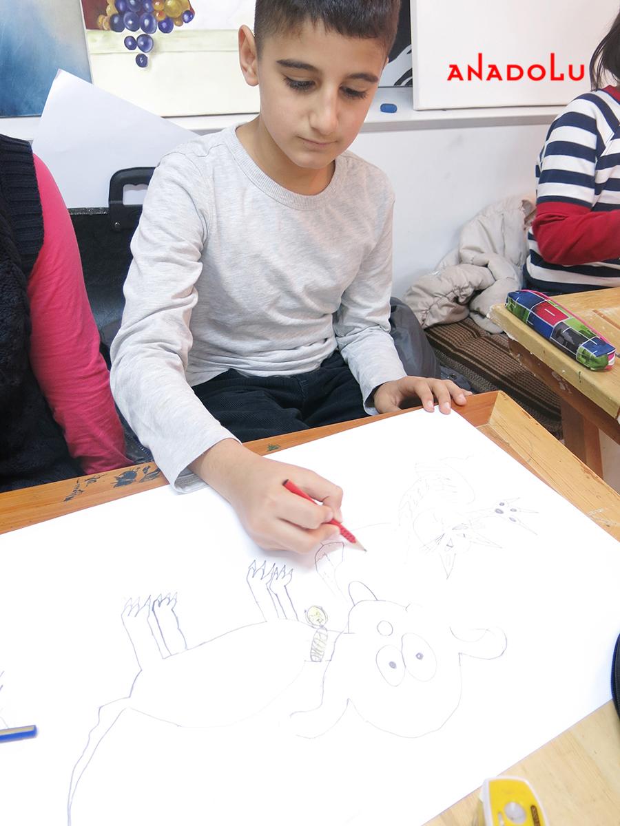 Çocuklar İçin Karakalem Eğitimleri Gaziantepda