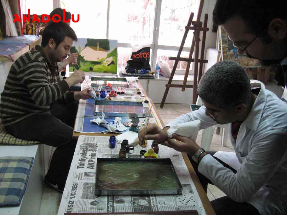 Ebru Kursunda Çalışanlar Gaziantepda