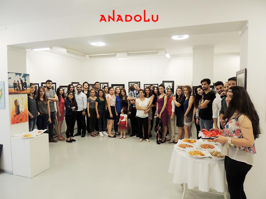 Anadolu Güzel Sanatlarda Sergi Açılışı Gaziantepda