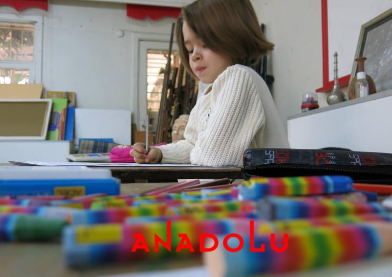 Gaziantepda Çocuklar Pastel Çalışması