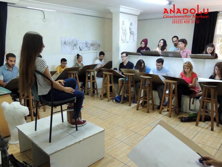 Anadolu Güzel Sanatlar Çizim Dersinde Gaziantepda