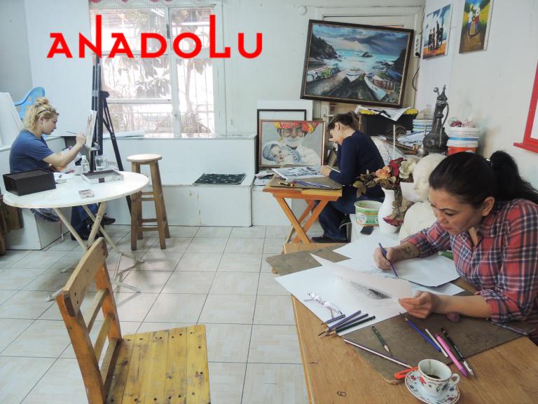 Hobi Grupları Karakalem Çizim Dersleri Gaziantepda