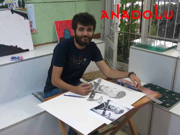 Karakalem Çalışan Hobi Grubu Çizimleri Gaziantepda