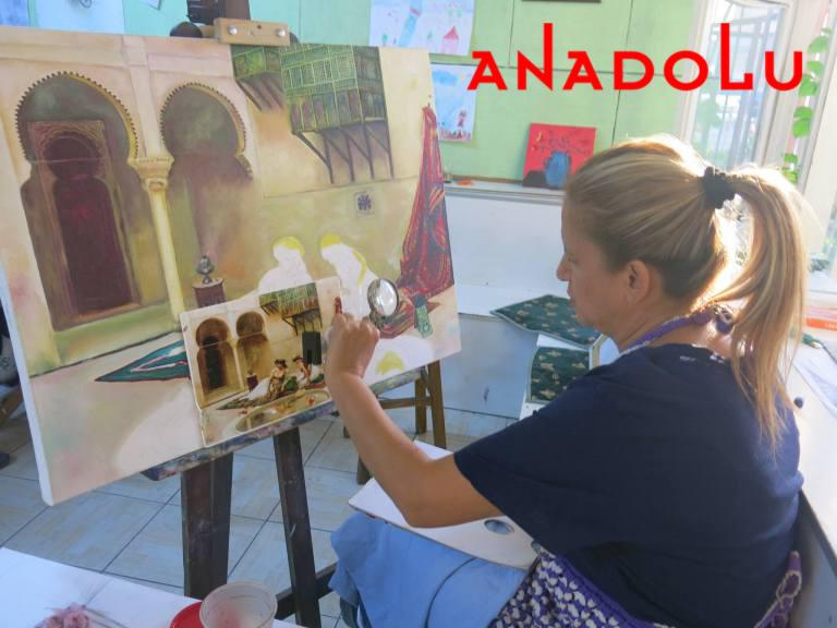 Yağlıboya Manzara Çalışmaları Hobi Grupları Gaziantepda