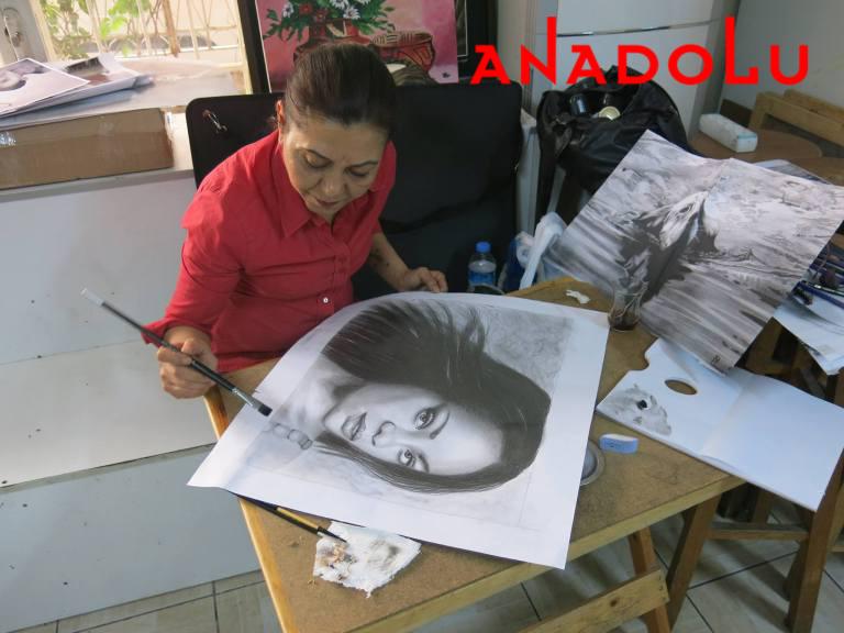 Hobi Dersleri Karakalem Çalışması Gaziantep