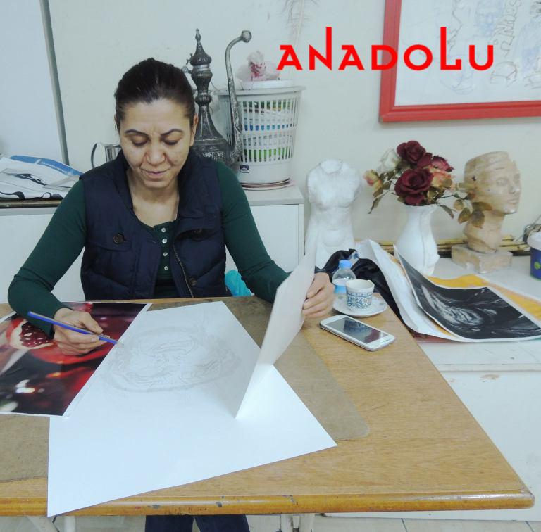 Hobi Sergisi Kurukalem Çalışması Gaziantep