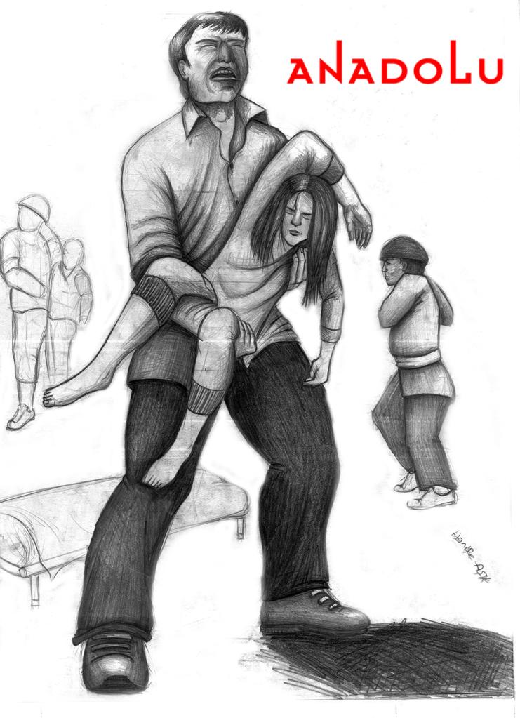 Gaziantepda karakalem babası ve kızı