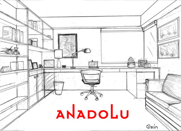 Çalışma Odası Çizim Görselleri Gaziantepda